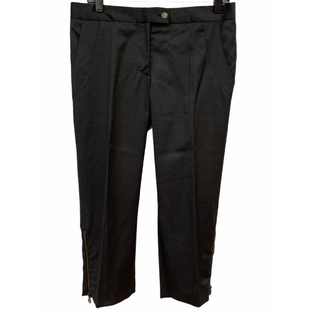 "Primary Photo - BRAND: STELLA MCCARTNEY STYLE: PANTS COLOR: BLACK SIZE: 8 /42SKU: 262-26211-145365CUT OFF STYLE DESIGNER FINAL WAIST 16""RISE 10.76""INSEAM 22"""