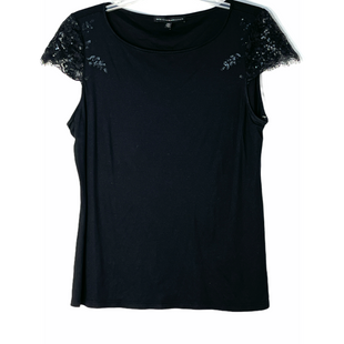 Primary Photo - BRAND: WHITE HOUSE BLACK MARKET STYLE: TOP SHORT SLEEVESCOLOR: BLACK SIZE: L SKU: 262-26241-47670