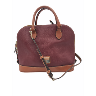 "Primary Photo - BRAND: DOONEY AND BOURKE STYLE: HANDBAG DESIGNER COLOR: RED SIZE: MEDIUM OTHER INFO: SOME SLIGHT WEAR SKU: 262-26241-48167APPROX. 13.75""L X 9.5""H X 5""D. HANDLE/TRIM COLOR MAY BE SLIGHTLY LIGHTER THAN PHOTOS APPEAR"
