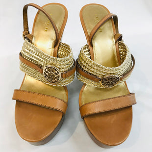 Primary Photo - BRAND: COACH STYLE: SANDALS LOW COLOR: GOLD SIZE: 9 SKU: 262-26275-41927AS IS
