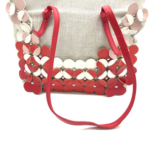 "Primary Photo - BRAND: NANETTE LEPORE STYLE: HANDBAG COLOR: RED WHITE SIZE: MEDIUM SKU: 262-26275-71225AS IS APPROX 11""X12""X3"""