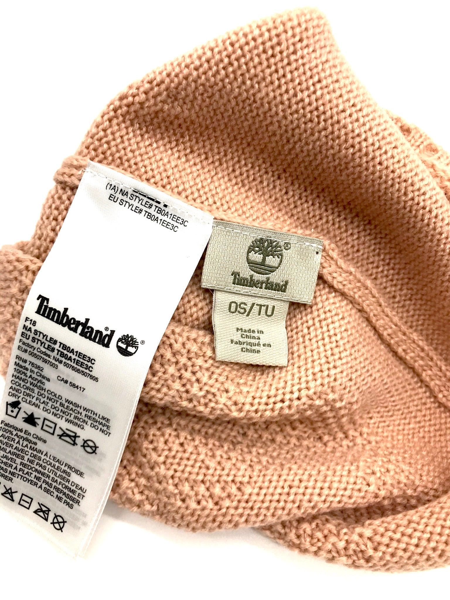 Photo #2 - BRAND: TIMBERLAND <BR>STYLE: BONNET<BR>COLOR: LIGHT PINK <BR>SKU: 262-26275-58803<BR>AS IS