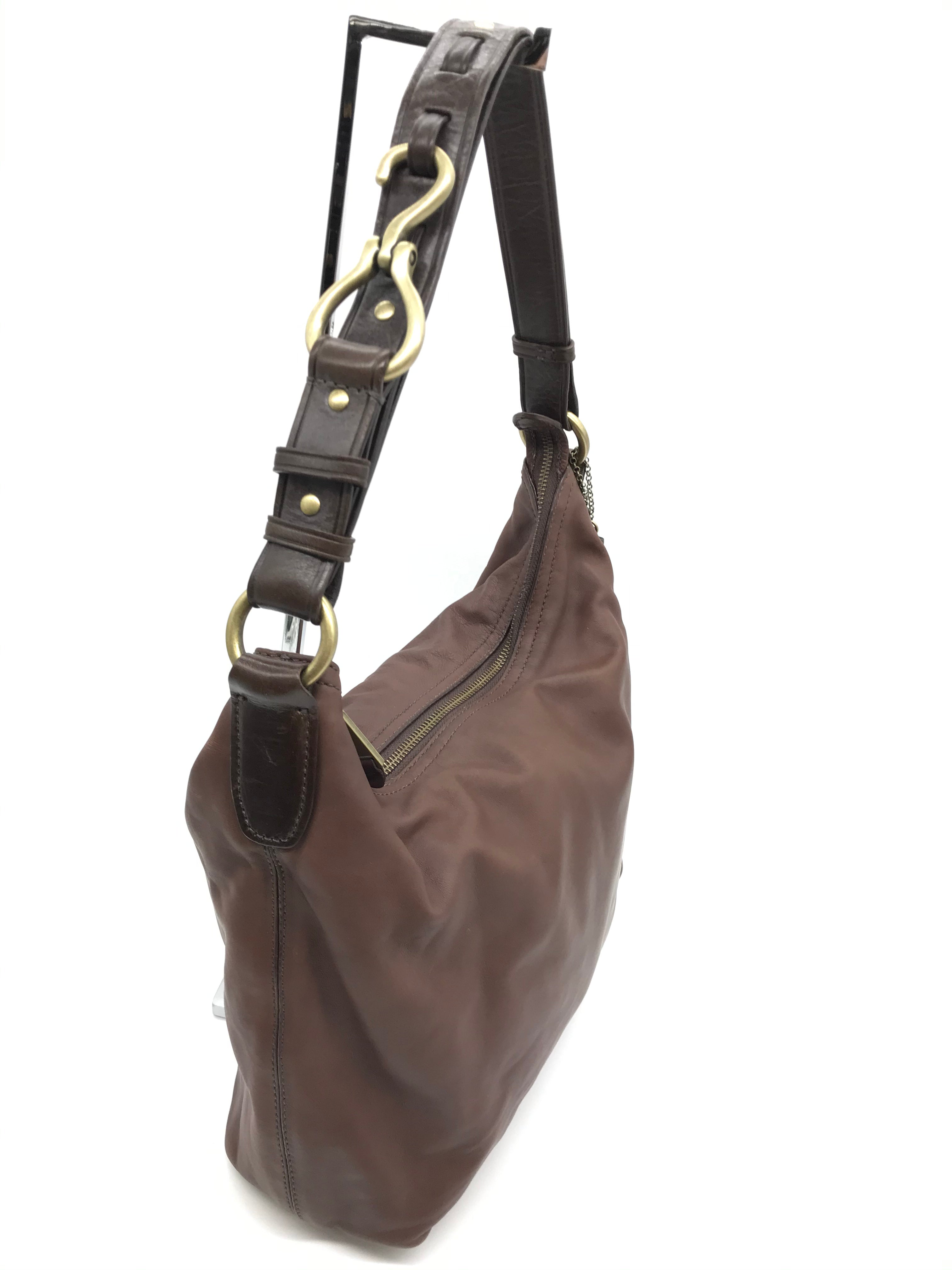Photo #1 - BRAND: COLE-HAAN <BR>STYLE: HANDBAG <BR>COLOR: BROWN <BR>SIZE: SMALL<BR>SKU: 262-26241-43732<BR>AS IS