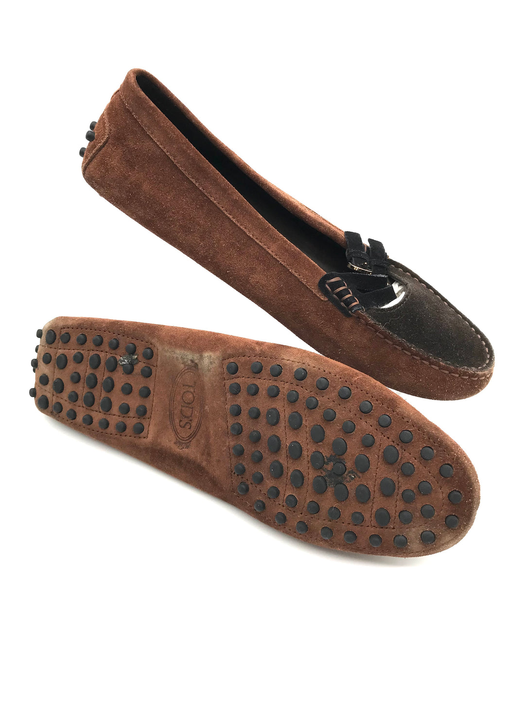 Photo #3 - BRAND: TODS <BR>STYLE: SHOES FLATS <BR>COLOR: BROWN <BR>SIZE: 8 <BR>SKU: 262-26275-70816<BR>AS IS