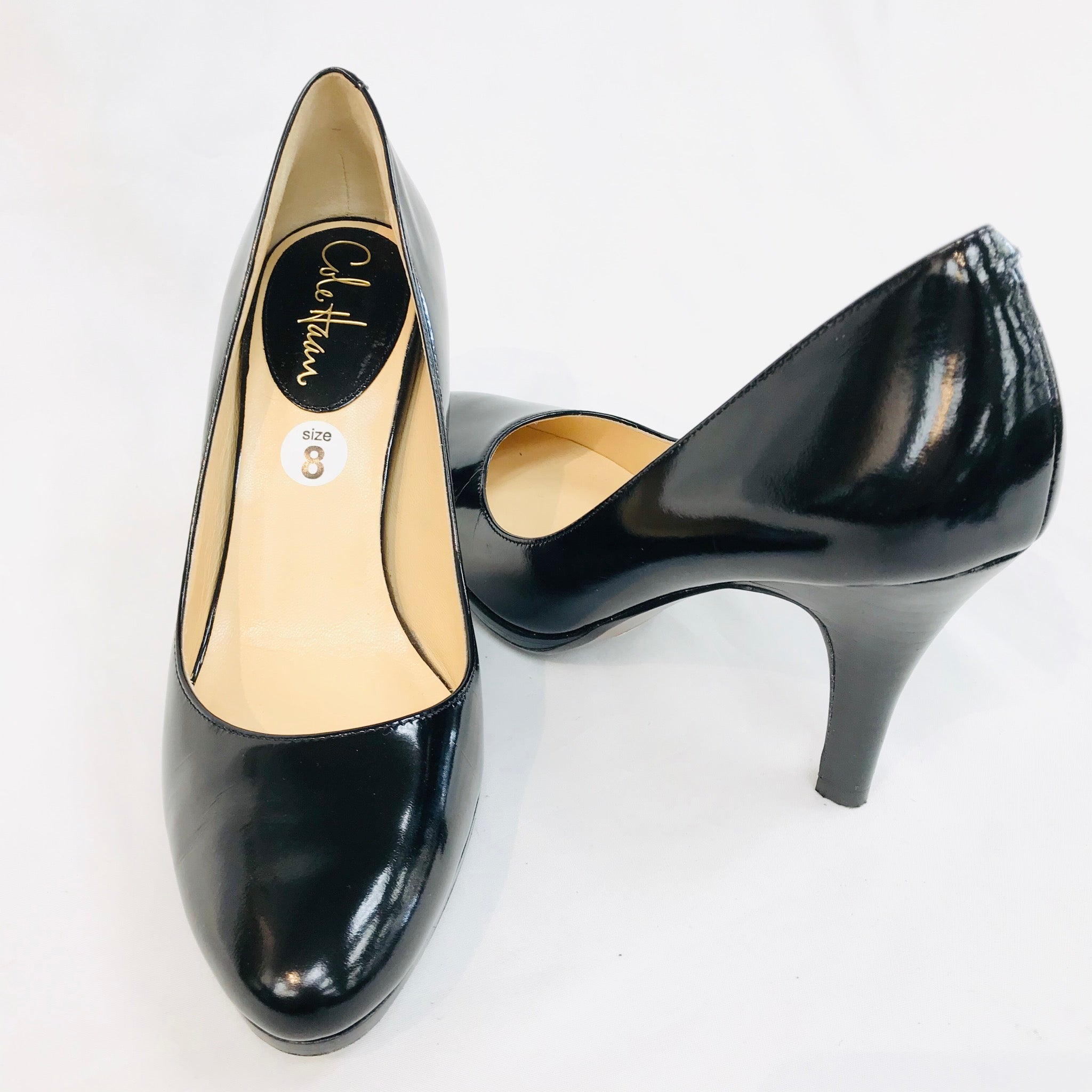 Photo #1 - BRAND: COLE-HAAN <BR>STYLE: SHOES LOW HEEL <BR>COLOR: BLACK <BR>SIZE: 8 <BR>SKU: 262-26211-128105<BR>- AS IS -
