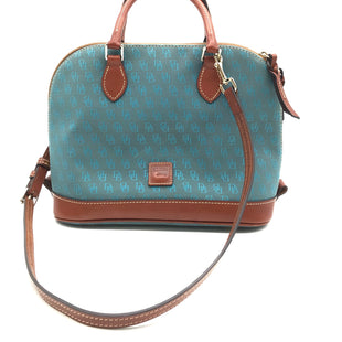 Primary Photo - BRAND: DOONEY AND BOURKE STYLE: HANDBAG DESIGNER COLOR: TEAL SIZE: MEDIUM SKU: 262-26275-68491IN GOOD CONDITION