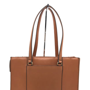 "Primary Photo - BRAND: REBECCA MINKOFF STYLE: HANDBAG DESIGNER COLOR: BROWN SIZE: MEDIUM 12""H X 14""L X 5""WSKU: 262-26275-73440CAN FIT 14"" LAPTOP IN THE LAPTOP HOLDER • SLIGHT MAKE UP STAINS ON THE INTERIOR POCKET LINING • GENTLE WEAR ON BOTTOM CORNERS • PRICE REFLECTS CONDITION •"