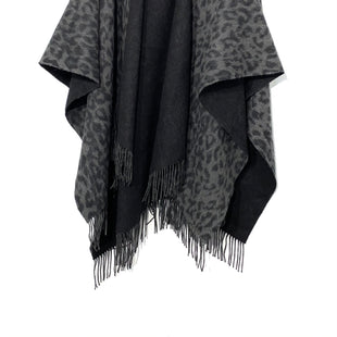 Primary Photo - BRAND:    AMICALESTYLE: SHAWL WOOLCOLOR: ANIMAL PRINT/CHARCOALSIZE: M/LOTHER INFO: AMICALE - SKU: 262-26275-70924PURE LAMBWOOLREVERSIBLE DESIGNER FINAL