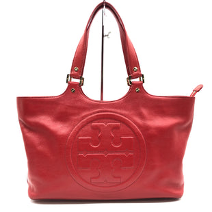 "Primary Photo - BRAND: TORY BURCH STYLE: HANDBAG DESIGNER COLOR: RED SIZE: 9.5"" X 15"" X 4""DROP: 8""SKU: 262-26241-45750IN GREAT SHAPE AND CONDITION"