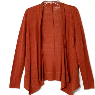 Primary Photo - BRAND: EILEEN FISHER STYLE: SWEATER CARDIGAN LIGHTWEIGHT COLOR: ORANGE SIZE: PETITE  MEDIUM SKU: 262-262101-2418100% LINEN