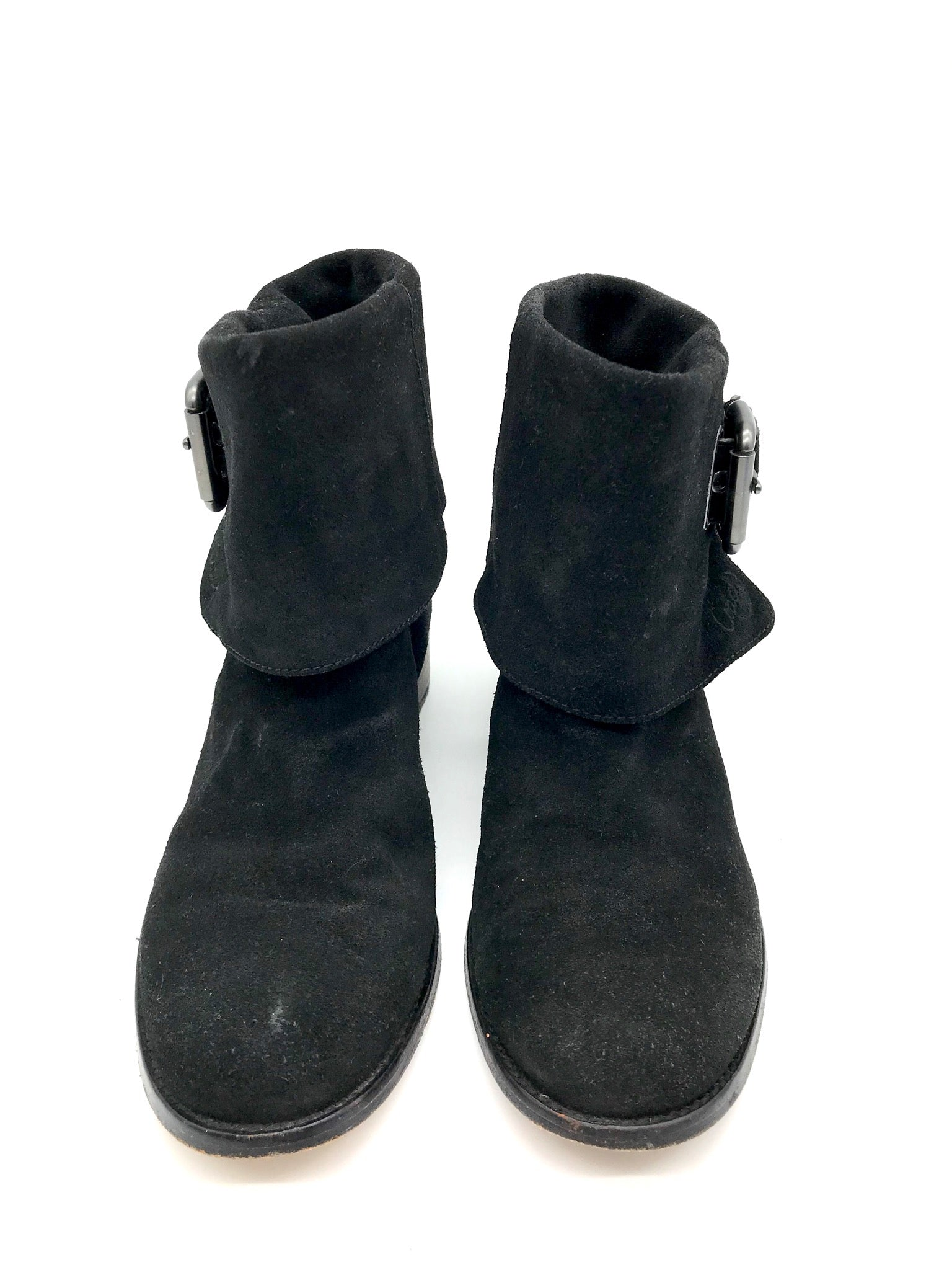 Primary Photo - BRAND: COACH <BR>STYLE: BOOTS ANKLE <BR>COLOR: BLACK <BR>SIZE: 7.5 <BR>SKU: 262-26275-54673<BR>SOME WEAR AROUND THE TOES - AS IS<BR>DESIGNER BRAND - FINAL SALE