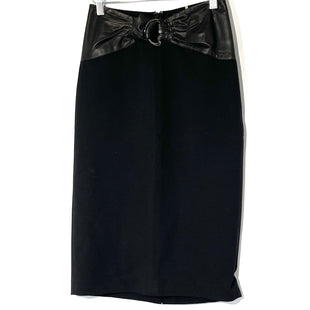 Primary Photo - BRAND: ELIE TAHARI STYLE: SKIRT COLOR: BLACK SIZE: 0 SKU: 262-262101-2884LEATHER WAIST SILK LINING DESIGNER FINAL