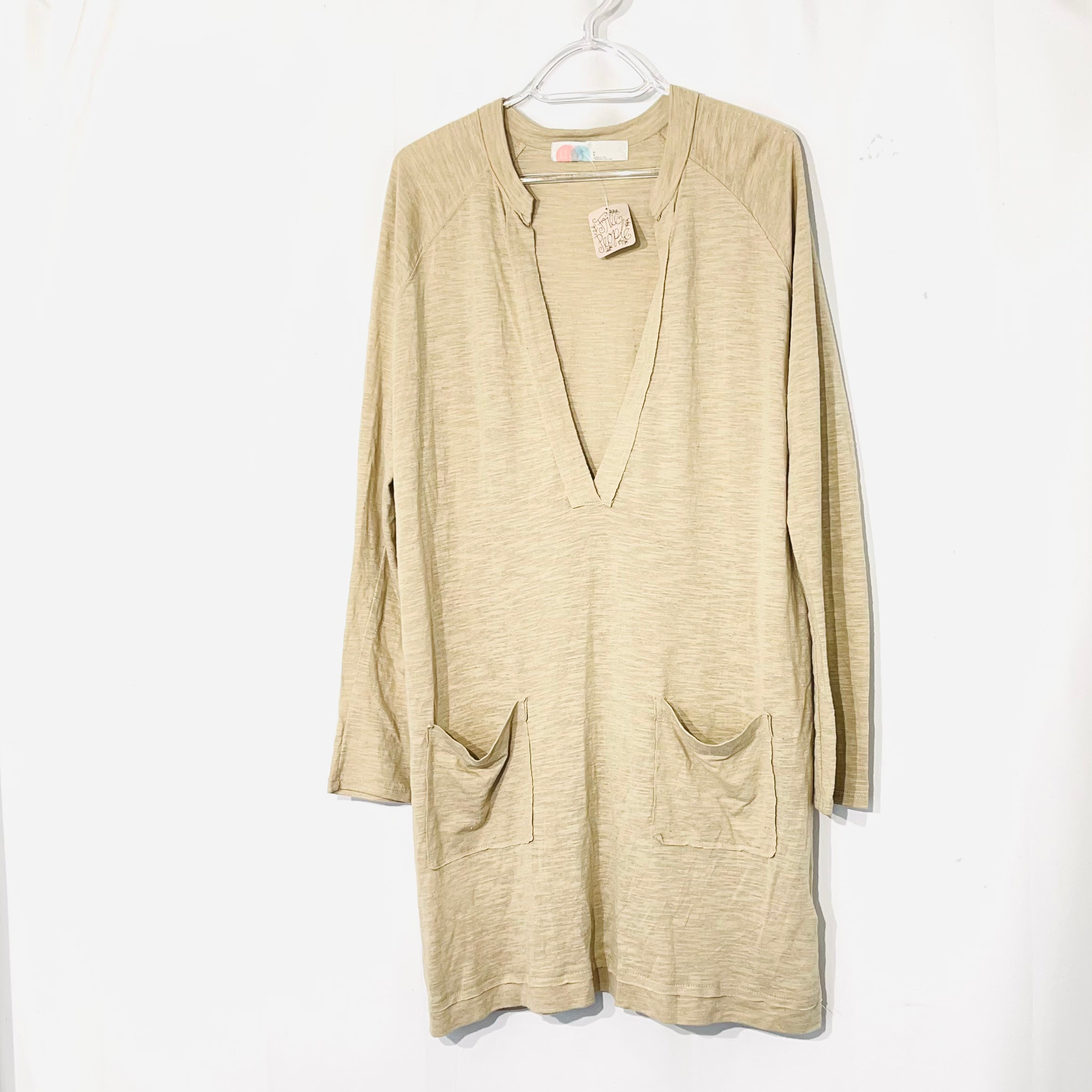 Primary Photo - BRAND: FREE PEOPLE <BR>STYLE: DRESS TUNIC COVER<BR>COLOR: BEIGE <BR>SIZE: L <BR>SKU: 262-26275-73810
