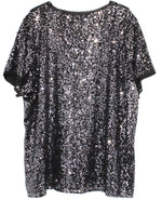 Photo #1 - BRAND: CALVIN KLEIN <BR>STYLE: TOP SHORT SLEEVE <BR>COLOR: SPARKLES SEQUINS <BR>SIZE: XL <BR>SKU: 262-26275-61161
