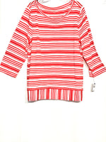 Primary Photo - BRAND: TALBOTS <BR>STYLE: TOP LONG SLEEVE <BR>COLOR: STRIPED <BR>SIZE: XL <BR>SKU: 262-26275-65464<BR><BR>PIT TO HEM 18.5""
