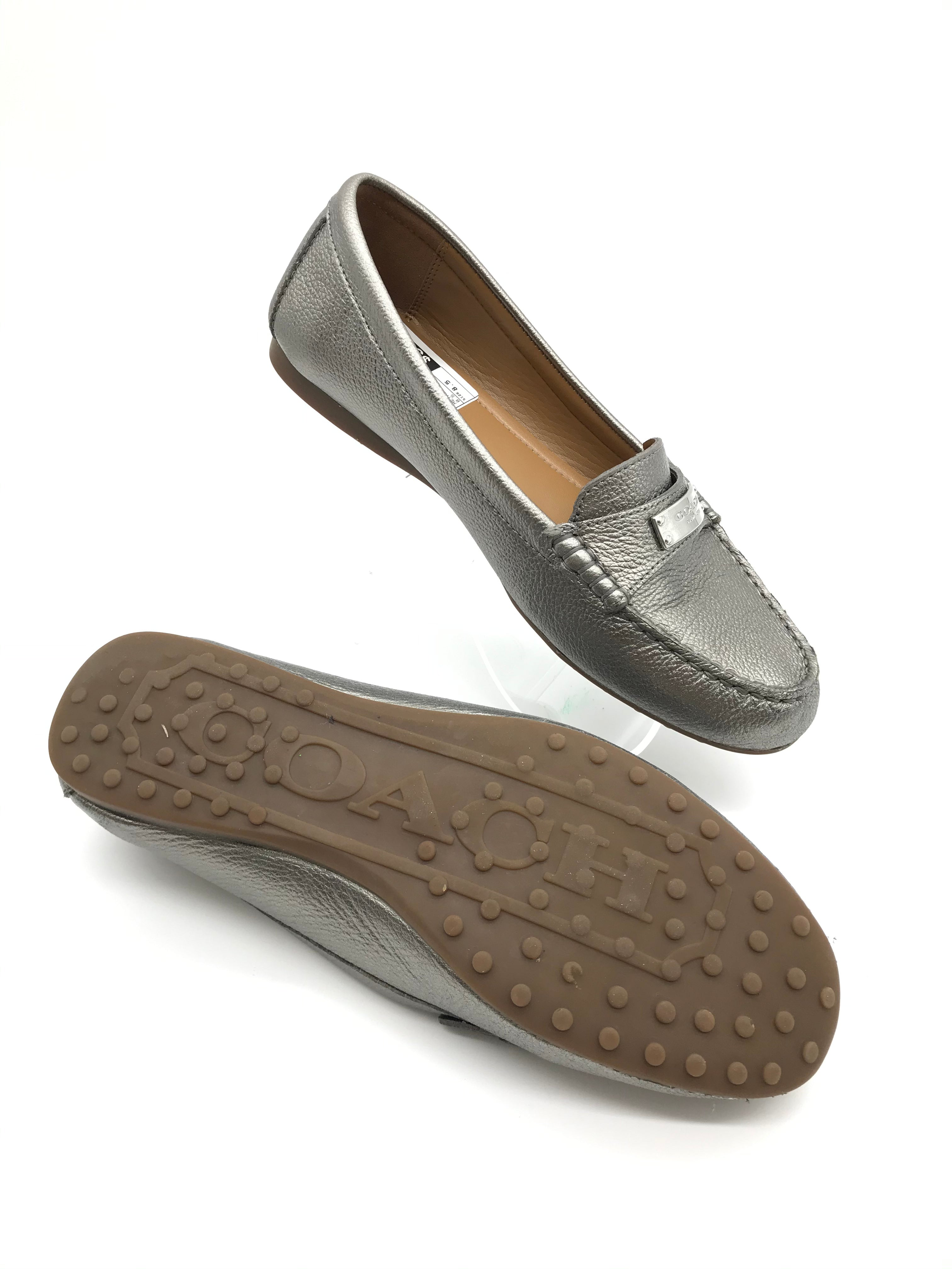 Photo #3 - BRAND: COACH <BR>STYLE: SHOES FLATS <BR>COLOR: METALLIC <BR>SIZE: 8.5 <BR>SKU: 262-26241-40507<BR>IN GOOD SHAPE AND CONDITION