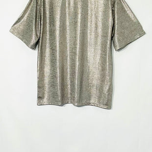 Primary Photo - BRAND: TOP SHOP STYLE: TOP SHORT SLEEVE COLOR: METALLIC SILVER SIZE: S /6SKU: 262-26275-69836