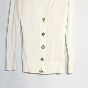 Primary Photo - BRAND: TORY BURCH STYLE: SWEATER CARDIGAN LIGHTWEIGHT COLOR: WHITE SIZE: XXS SKU: 262-26275-66053SMALL DOT ON FRONT DESIGNER FINAL 100% COTTON