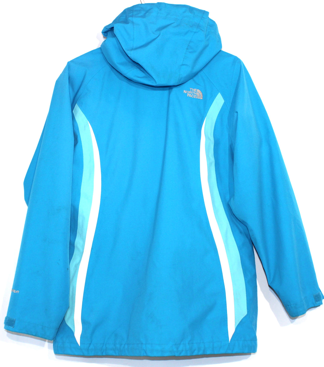 Photo #1 - BRAND: NORTHFACE <BR>STYLE: JACKET OUTDOOR <BR>COLOR: TURQUOISE <BR>SIZE: S (XL GIRLS)<BR>OTHER INFO: GIRLS SIZE AS IS!!! <BR>SKU: 262-26211-135248<BR><BR>GENTLE WEAR AS IS <BR>DESIGNER FINAL