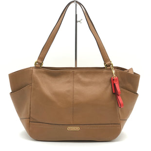 "Primary Photo - BRAND: COACH STYLE: HANDBAG DESIGNER COLOR: TAN SIZE: 9.6""H X 19""L X 6""WDROP: 9""SKU: 262-26211-143734IN EXCELLENT SHAPE AND CONDITION"