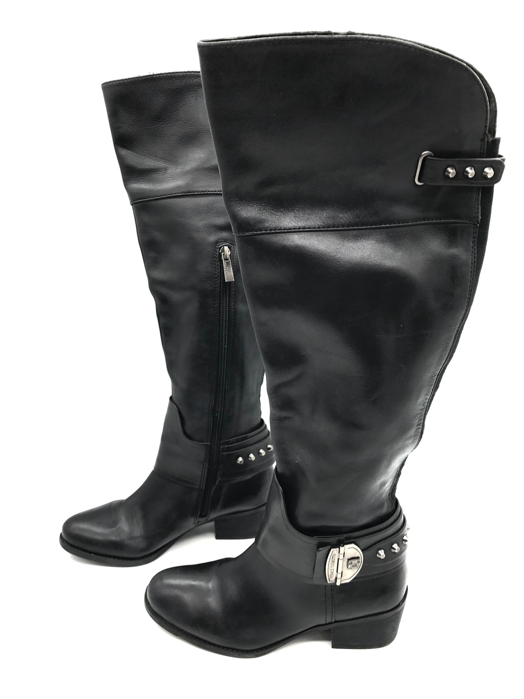 Photo #2 - BRAND: VINCE CAMUTO <BR>STYLE: BOOTS KNEE <BR>COLOR: BLACK <BR>SIZE: 6.5 <BR>SKU: 262-26275-72179<BR><BR>SOME SLIGHT SCRATCHES