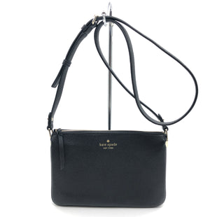 "Primary Photo - BRAND: KATE SPADE STYLE: HANDBAG DESIGNER COLOR: BLACK SIZE: SMALL 6.5""H X 9.5""L X 2.5""WSTRAP DROP: 21""SKU: 262-26275-78373IN EXCELLENT SHAPE AND CONDITION"