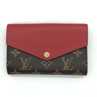 "Primary Photo - BRAND: LOUIS VUITTON STYLE: VICTORINE WALLETCOLOR: RED SIZE: 6""L X 4""HSKU: 262-26211-143886OWNER BOUGHT THIS WALLET IN THE LOUIS VUITTON STORE IN ITALY • SLIGHT TARNISHING OF HARDWARE • OVERALL IN GREAT SHAPE AND CONDITION •"
