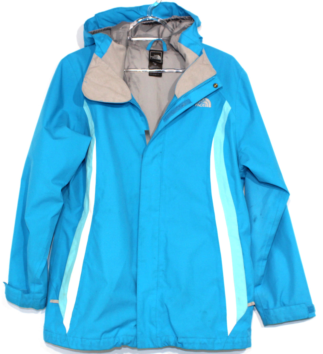 Primary Photo - BRAND: NORTHFACE <BR>STYLE: JACKET OUTDOOR <BR>COLOR: TURQUOISE <BR>SIZE: S (XL GIRLS)<BR>OTHER INFO: GIRLS SIZE AS IS!!! <BR>SKU: 262-26211-135248<BR><BR>GENTLE WEAR AS IS <BR>DESIGNER FINAL