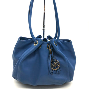 "Primary Photo - BRAND: MICHAEL KORS STYLE: HANDBAG DESIGNER COLOR: BLUE SIZE: MEDIUM 10""H X 14.5""L X 3.5""W STRAP DROP: 11""SKU: 262-26275-51215INK STAINS ON THE INTERIOR LINING • AS IS"