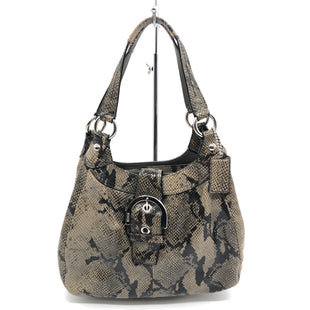 "Primary Photo - BRAND: COACH STYLE: HANDBAG DESIGNER COLOR: SNAKESKIN PRINT SIZE: MEDIUM 8.5""H X 12""L X 3.5""WSKU: 262-26275-75764GENTLE WEAR ON CORNERS - AS IS"