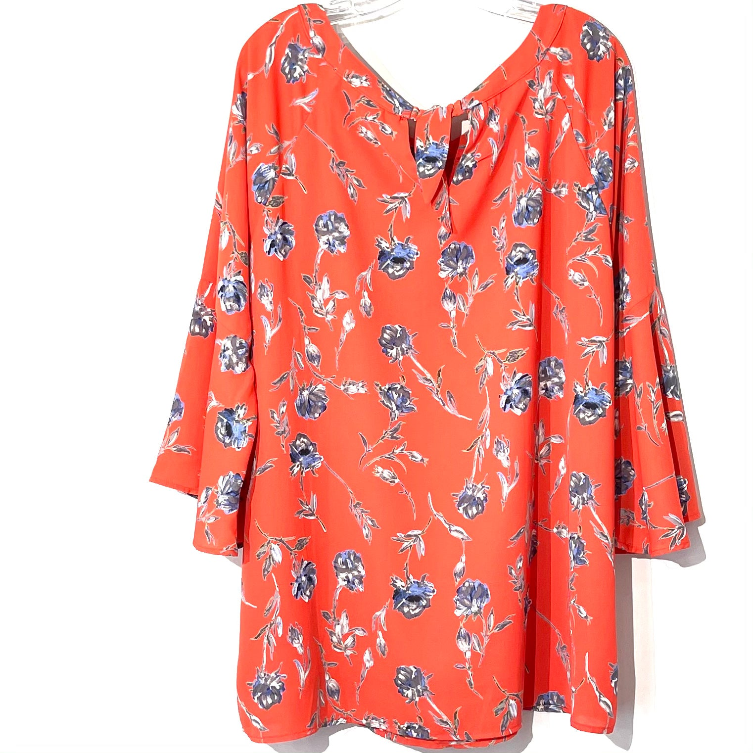 Photo #1 - BRAND: HALOGEN <BR>STYLE: TOP LONG SLEEVE <BR>COLOR: FLORAL <BR>SIZE: XL <BR>SKU: 262-26275-62054