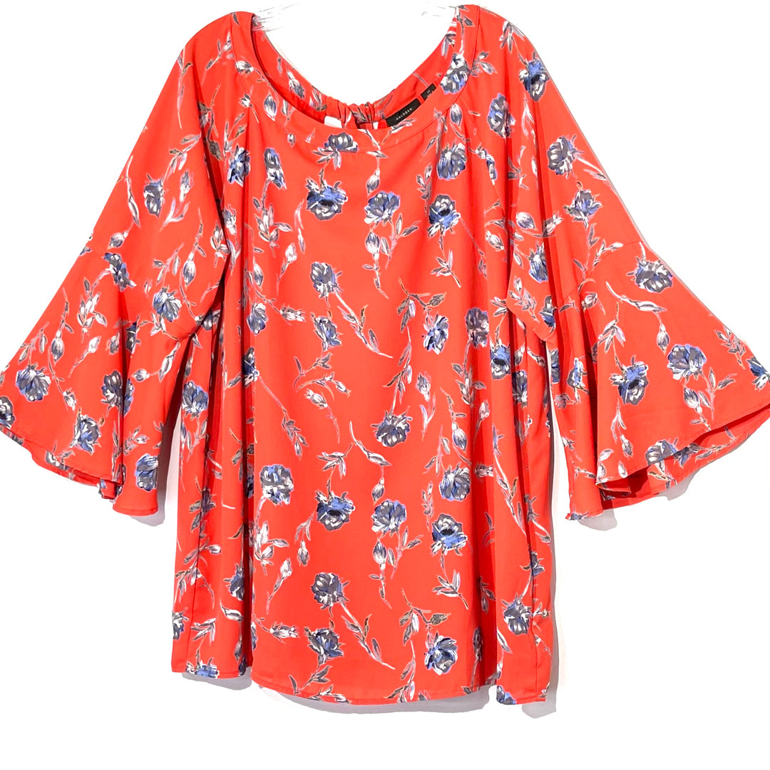 Primary Photo - BRAND: HALOGEN <BR>STYLE: TOP LONG SLEEVE <BR>COLOR: FLORAL <BR>SIZE: XL <BR>SKU: 262-26275-62054