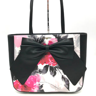 "Primary Photo - BRAND: KARL LAGERFELD STYLE: HANDBAG DESIGNER COLOR: FLORAL SIZE: MEDIUM SKU: 262-26275-71492AS IS DESIGNER BRAND FINAL SALE APPROX 13""X11""X4"""