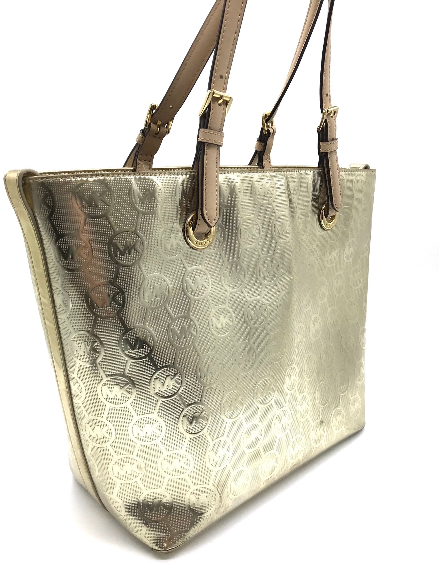 Photo #1 - BRAND: MICHAEL KORS <BR>STYLE: HANDBAG DESIGNER <BR>COLOR: GOLD <BR>SIZE: MEDIUM <BR>SKU: 262-26275-64439<BR>GENTLE WEAR - AS IS<BR>DESIGNER BRAND - FINAL SALE