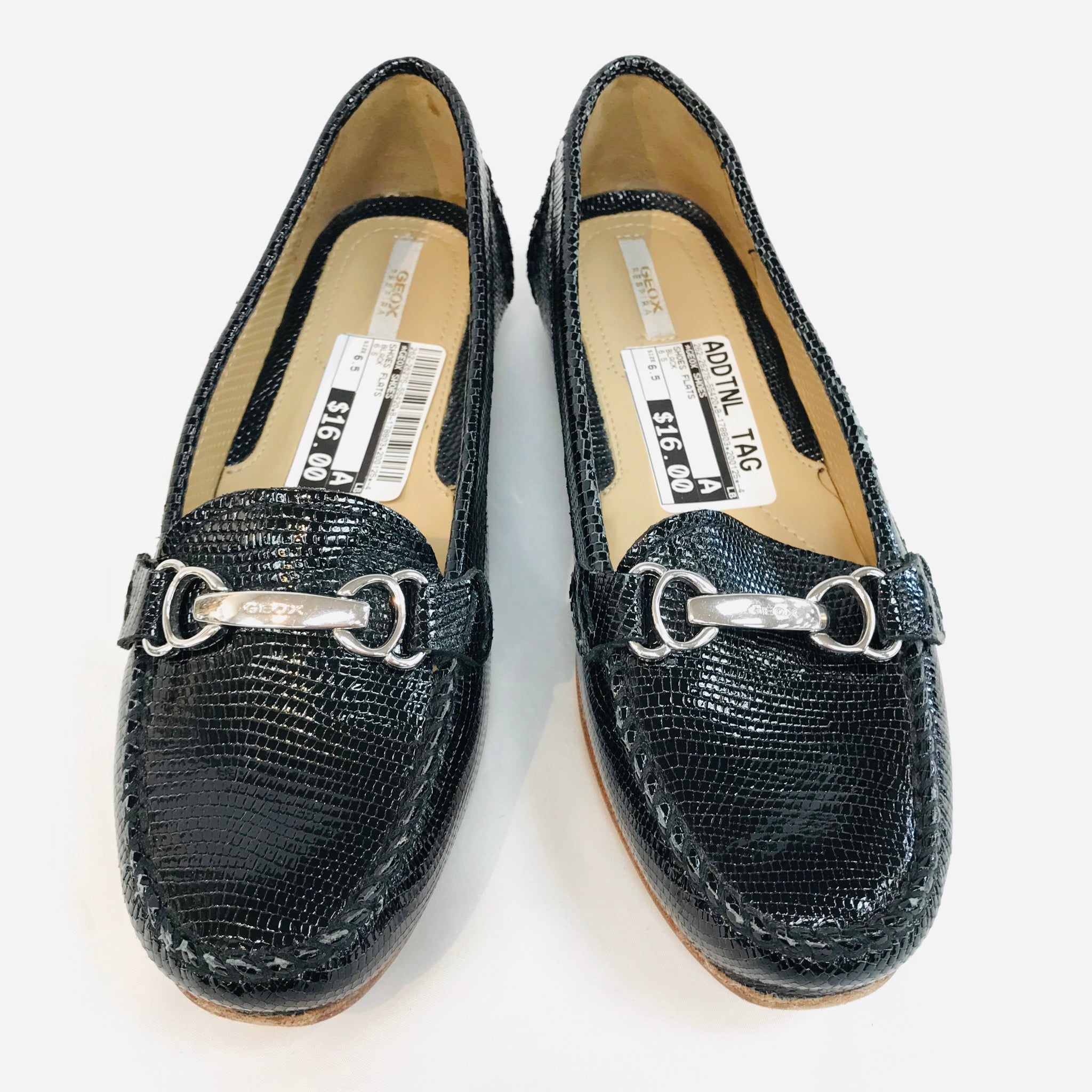 Primary Photo - BRAND: GEOX SHOES <BR>STYLE: SHOES FLATS <BR>COLOR: BLACK <BR>SIZE: 6.5 <BR>SKU: 262-26275-55420<BR>AS IS