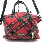 "Primary Photo - BRAND: DOONEY AND BOURKE <BR>STYLE: HANDBAG DESIGNER <BR>COLOR: PLAID <BR>SIZE: MEDIUM <BR>SKU: 262-26241-44660<BR><BR>APPROX. 10.75""L X 10""H X 5.5""D. AS IS, SLIGHT WEAR TO METALWARE + MISSING ONE OF THE FOUR FEET"