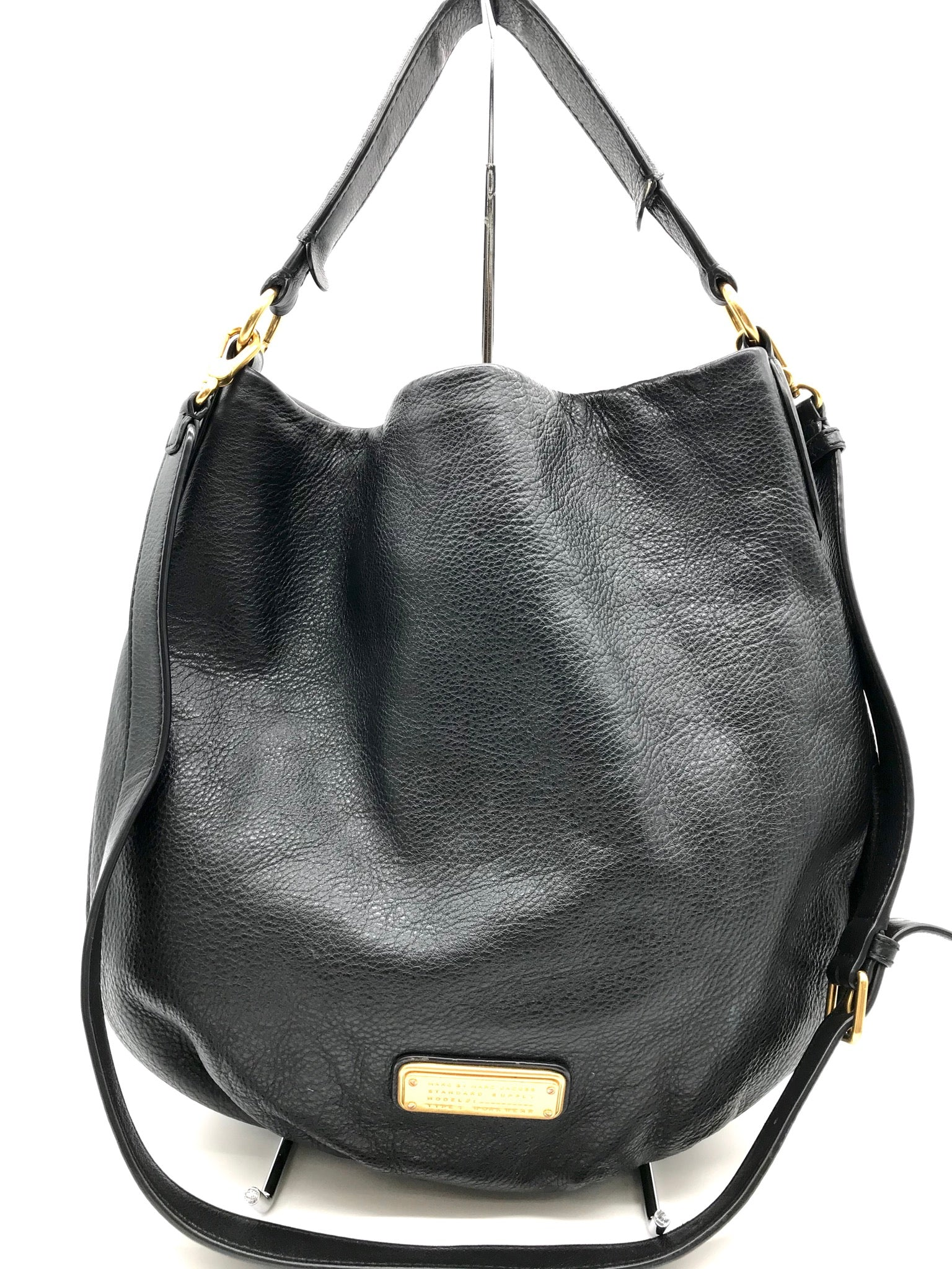 Primary Photo - BRAND: MARC BY MARC JACOBS <BR>STYLE: HANDBAG DESIGNER <BR>COLOR: LEATHER <BR>SIZE: LARGE <BR>SKU: 262-26241-32891<BR>SOME MARKS INSIDE - AS IS<BR>DESIGNER BRAND - FINAL SALE