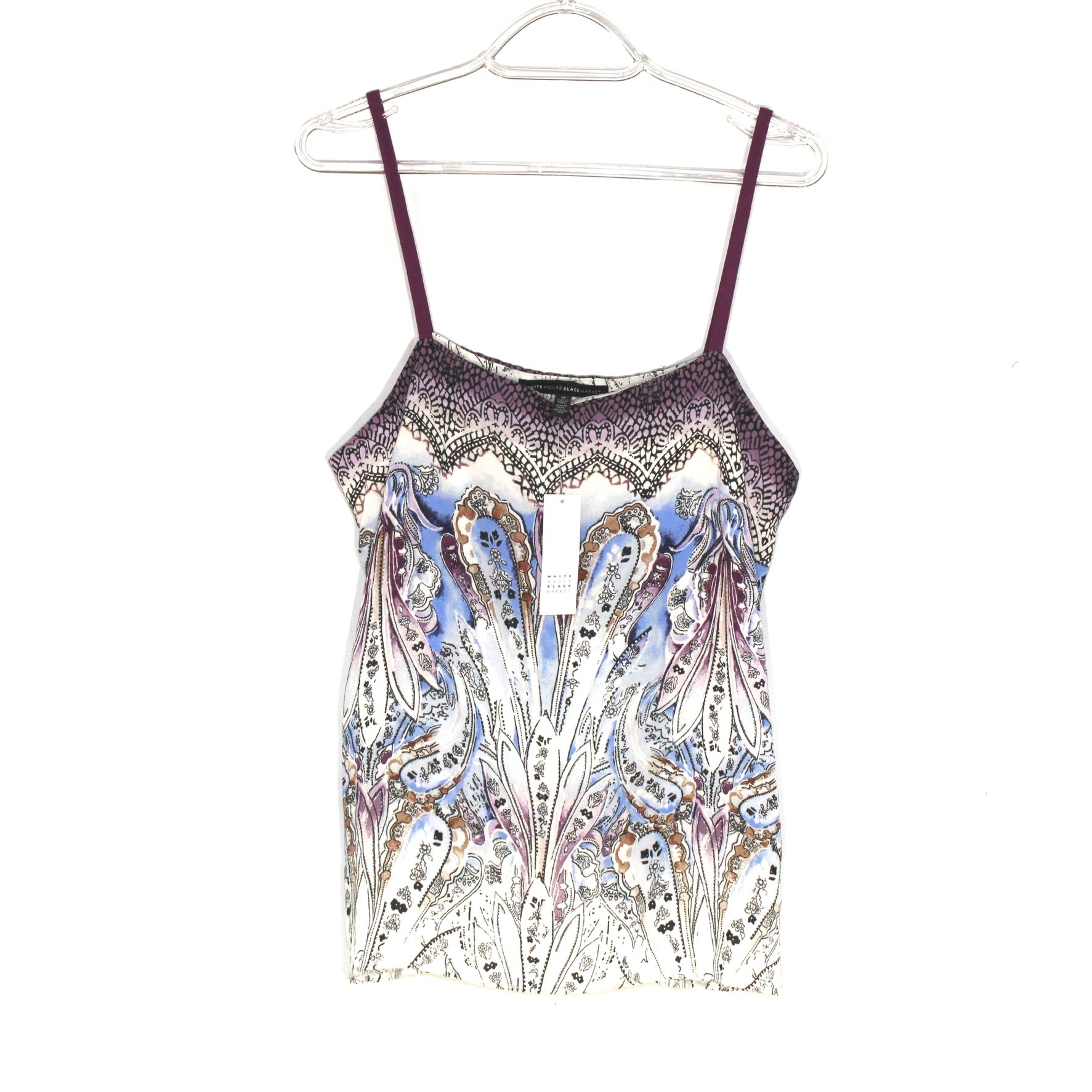 Primary Photo - BRAND: WHITE HOUSE BLACK MARKET <BR>STYLE: TOP SLEEVELESS <BR>COLOR: PAISLEY <BR>SIZE: M <BR>SKU: 262-26275-59150
