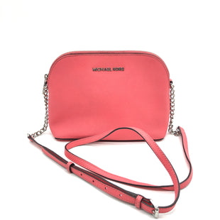 "Primary Photo - BRAND: MICHAEL KORS STYLE: HANDBAG DESIGNER COLOR: SALMON SIZE: SMALL 6""H X 10""L X 3.5""WDROP: 22.5""SKU: 262-26275-77425SLIGHT LEATHER DISCOLORATION • AS IS •"