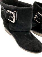 Photo #2 - BRAND: COACH <BR>STYLE: BOOTS ANKLE <BR>COLOR: BLACK <BR>SIZE: 7.5 <BR>SKU: 262-26275-54673<BR>SOME WEAR AROUND THE TOES - AS IS<BR>DESIGNER BRAND - FINAL SALE