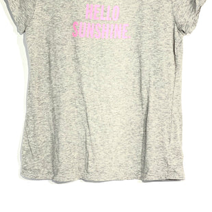 Primary Photo - BRAND: KATE SPADE STYLE: TOP SHORT SLEEVE COLOR: GREY SIZE: S SKU: 262-26275-65944DESIGNER FINAL PINK LETTERS MUCH BRIGHTER THAN PIC SHOWS