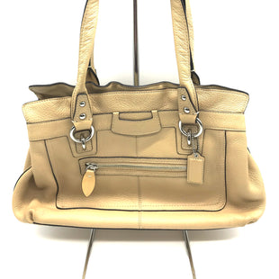 "Primary Photo - BRAND: COACHSTYLE: HANDBAG DESIGNER COLOR: CREAM SIZE: MEDIUNSKU: 262-26241-43231APPROX. 13""L X 9""H X 3.5""D"