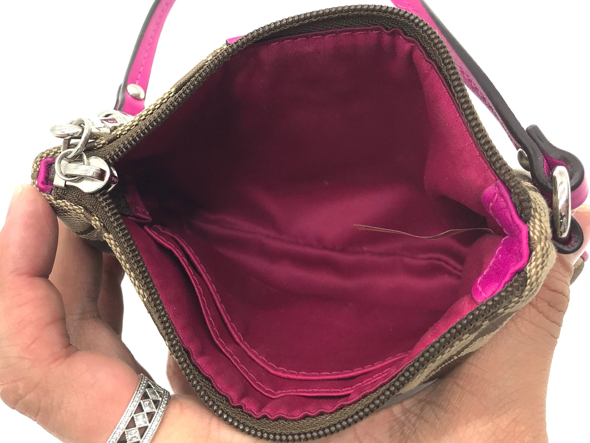Photo #3 - BRAND: COACH <BR>STYLE: WRISTLET <BR>COLOR: MONOGRAM <BR>SKU: 262-262100-153<BR>GENTLE WEAR AS IS - OVERALL IN GOOD CONDITION <BR>DESIGNER BRAND - FINAL SALE