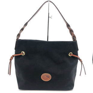"Primary Photo - BRAND: DOONEY AND BOURKE STYLE: HANDBAG DESIGNER COLOR: BLACK SIZE: MEDIUM 10.5""H X 15""L X 5.5""WDROP: 8"" SKU: 262-26275-61227IN GREAT SHAPE AND CONDITION"