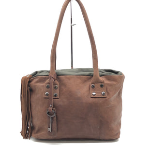Primary Photo - BRAND:  AMBER ROSESTYLE: HANDBAG LEATHER COLOR: BROWN SIZE: SMALL SKU: 262-26241-45427STAIN SPOTS VISIBLE AROUND THE BAG • JUST NEEDED A GOOD LEATHER CLEANING •