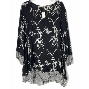 Primary Photo - BRAND: SOFT SURROUNDINGS STYLE: TUNIC TOP LONG SLEEVE COLOR: BLACK WHITE SIZE: 1X SKU: 262-26241-47551