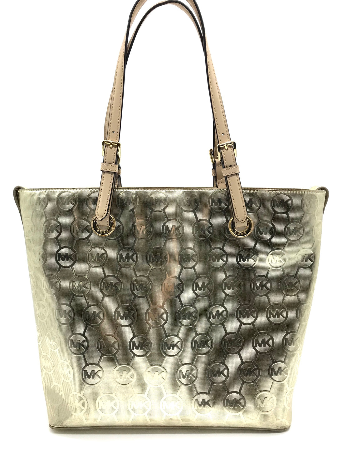 Primary Photo - BRAND: MICHAEL KORS <BR>STYLE: HANDBAG DESIGNER <BR>COLOR: GOLD <BR>SIZE: MEDIUM <BR>SKU: 262-26275-64439<BR>GENTLE WEAR - AS IS<BR>DESIGNER BRAND - FINAL SALE