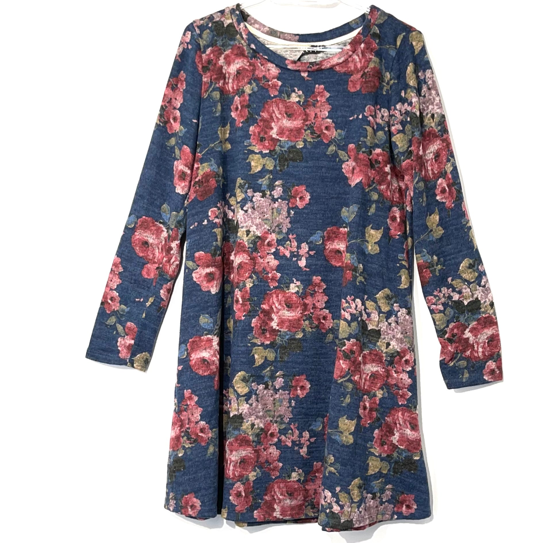 Primary Photo - BRAND: POTTERS POT <BR>STYLE: DRESS SHORT LONG SLEEVE <BR>COLOR: FLORAL <BR>SIZE: L <BR>SKU: 262-26241-41892