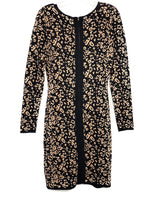 Photo #1 - BRAND: BADGLEY MISCHKA <BR>STYLE: DRESS SHORT LONG SLEEVE <BR>COLOR: ANIMAL PRINT <BR>SIZE: M <BR>SKU: 262-26211-140225