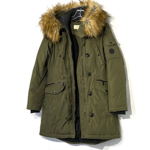Primary Photo - BRAND: MICHAEL KORS STYLE: COAT COLOR: OLIVE SIZE: M SKU: 262-26275-74917SLIGHT TARNISHING ZIPPER METALWARE AS ISREMOVED FAUX FUR